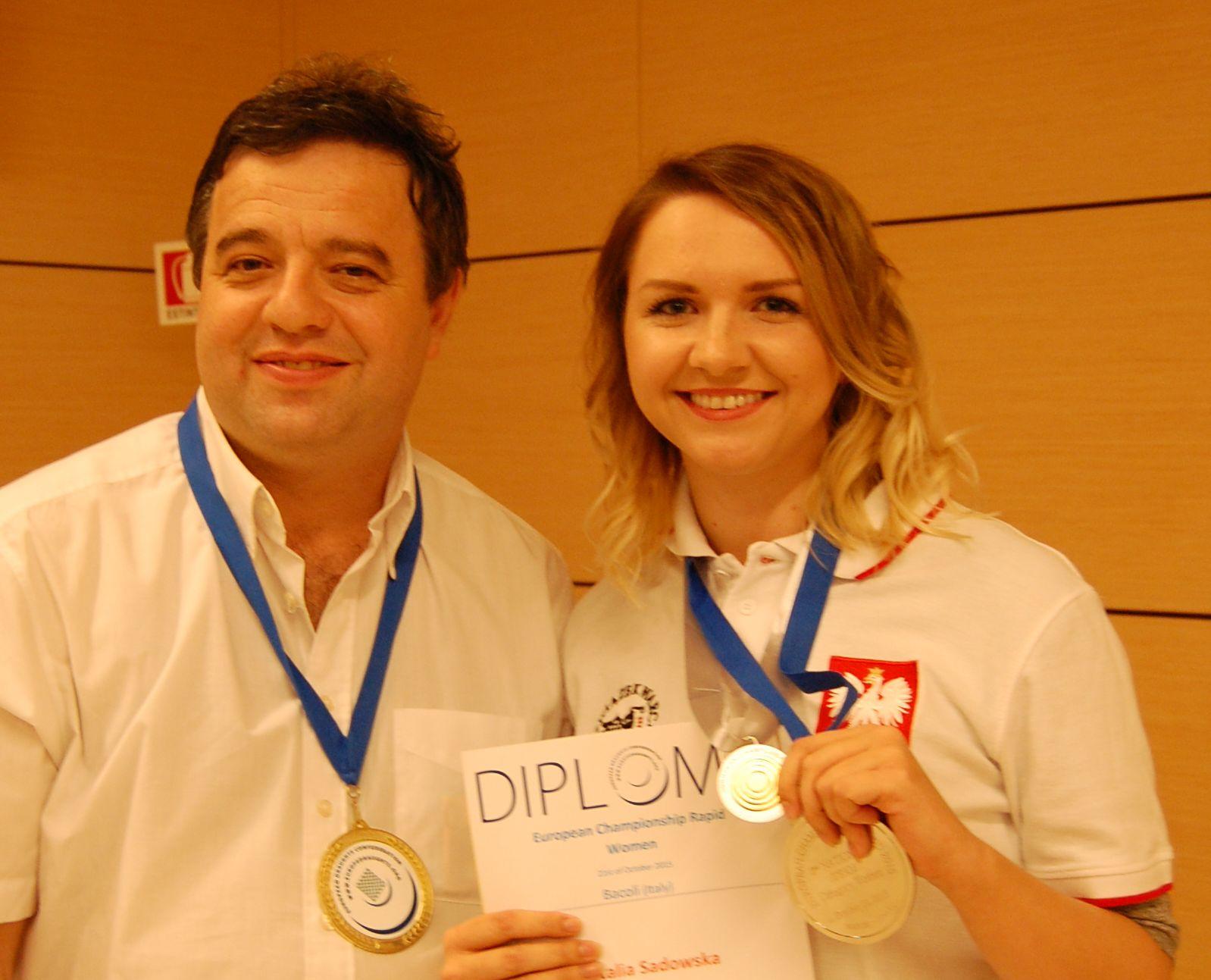 Gwiazdy światowych Warcabów - Mistrz i Mistrzyni Europy